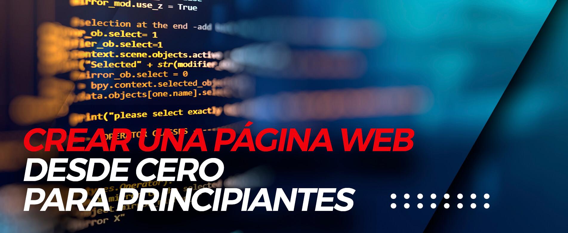 Curso Crear una Página Web desde Cero para Principiantes